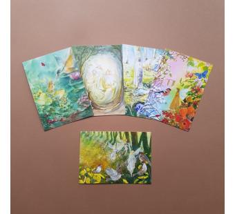 Set of 5 postal cards angels 1