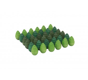 Grapat set mini mandala boompjes groen (20-218)