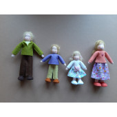 Seasonal doll dollhouse family