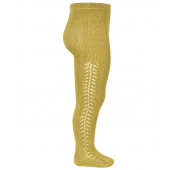 Condor cotton stocking  poen work colour mustard