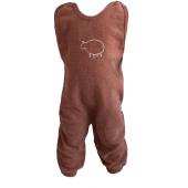 Engel woolen baby romper without feet  caramel