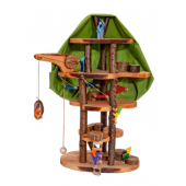 Magic wood treehouse for little leves