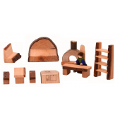 Magic wood shire house 10 piece furniture set
