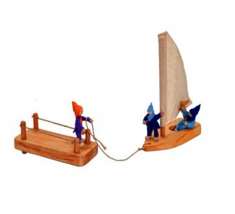 Magic wood boot en dock