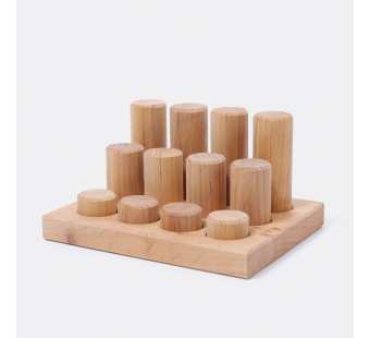 Stacking Game Small Natural Rollers  (10570)