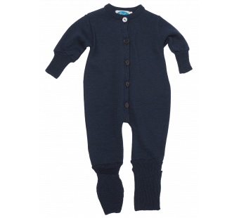 Reiff wool silk jumpsuit  navy