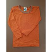 Cosilana lange mouw shirt 70% wol 30% zijde zacht roze met streepjes  (71233)