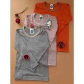 Cosilana lange mouw shirt 70% wol 30% zijde grijs met streepjes  (71233)