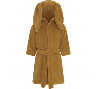 Konges Slojd terry cotton bathrobe mustard