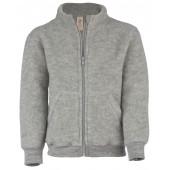 Engel Children's jacket with zipper, fleece light grey