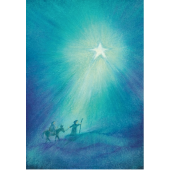 Postkaart  Op weg naar Bethlehem  (Baukje Exler)