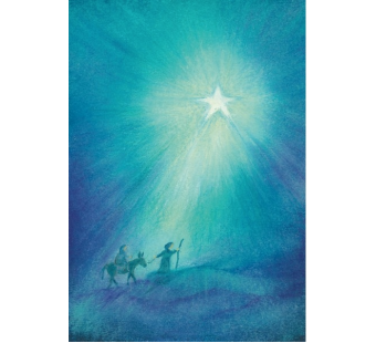 Postcard On the way to Bethlehem  (Baukje Exler)