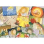 Set van 12 kaarten van Blaffert