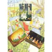 Set of 5 postcards of root children