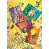 Set of 5 cards 'Children in Autumn'