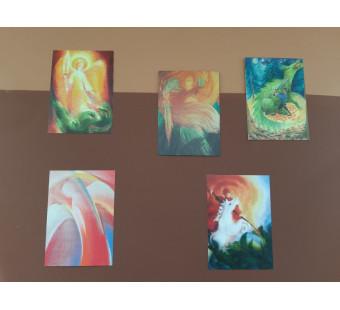 Set of 5 cards Saint Michael