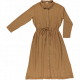 Poudre Organic ladies dress  Anemone Brown Sugar