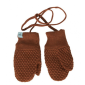 Mp Denmark mittens wool/cotton Rust