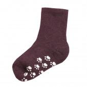 Joha aubergine wollen sokken antislip 90% wol (95016)