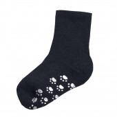 Joha navy wollen sokken antislip 90% wol (95016)