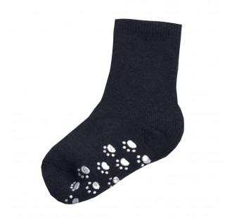 Joha dark denim wollen sokken antislip 90% wol (95016)
