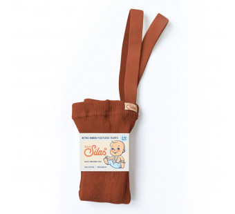 Silly Silas cotton footless tights Cinamon