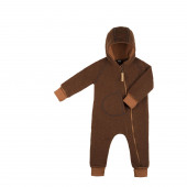 Pure Pure boiled woolen overall tobacco