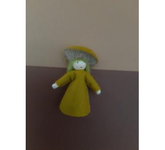Seasonal doll forest fungus