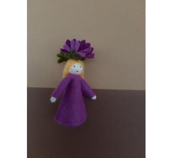 Seasonal doll Michaelmas Daisy Girl 2