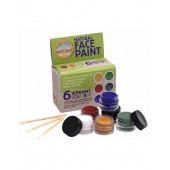 Natural Earth Paint zes kleuren schmink