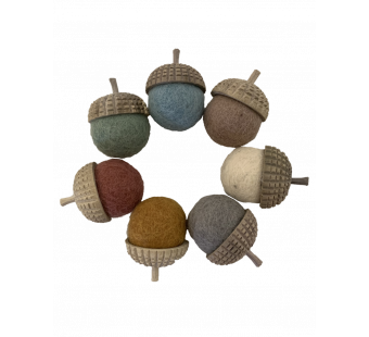 Papoose toys set of 7 acorns