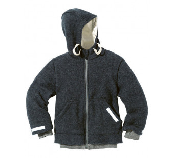 Disana boiled woolen outdoor jacket anthracite *new model 2019*