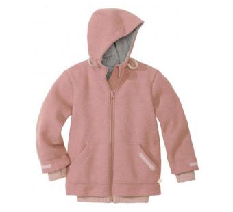 Disana gekookte wollenoutdoor  jas met boorden rose *nieuw model 2019*