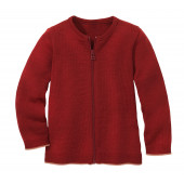 Disana woolen cardigan bordeaux