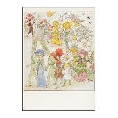 Postkaart bloemen feest (Elsa Beskow)