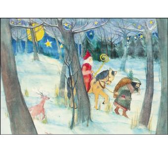 Postkaart sinterklaas  Eva-Maria Ott-Heidmann