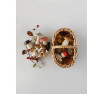 Moon picnic forest mushroom basket