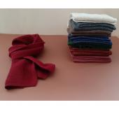 De Colores sjaal met siersteek voor kinderen van baby alpaca in diverse kleuren