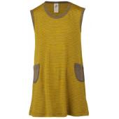 Engel wool silk dress walnut saffron