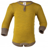 Engel wool silk body saffron/walnut