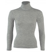 Engel wool silk longsleeve collar Light grey