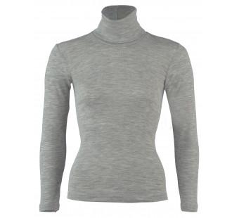 Engel wool silk longsleeve collar Light grey