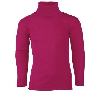 Engel wool silk longsleeve poloneck raspberry pink