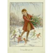 Postkaart Under the mistletoe  (Magareth Tarrant) 098