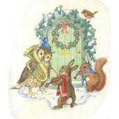 Postal card Birds and Holly  (Molly Brett) 274