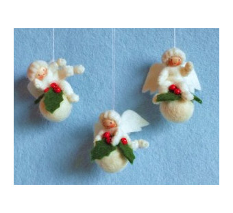 Drie kerstbal engeltjes (atelier Pippilotta)