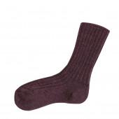 Joha woolen socks aubergine 90% wool