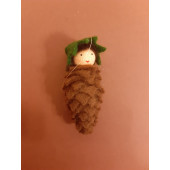 Seasonal doll Pine Cone Baby