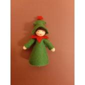 Seasonal doll christmas tree
