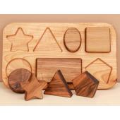 montessori puzzel geometrische figuren